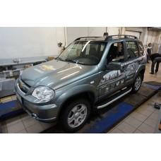 Пороги алюминиевые (Alyans) Chevrolet Niva (2008-)