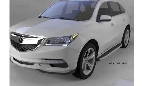 Пороги алюминиевые (Alyans) Honda Pilot (2016-)/ Acura MDX (2014-) на Honda Pilot  III (2016-)