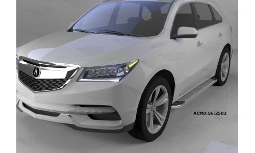 Пороги алюминиевые (Opal) Honda Pilot (2016-)/Acura MDX (2014-) на Honda Pilot  III (2016-)