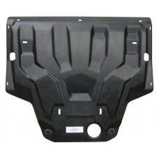 Защита картера двигателя и кпп Audi (Ауди) Q3, V-2.0TFSI,(2011-) (Композит 8 мм)