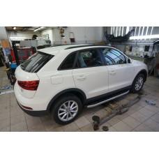 Пороги алюминиевые (Alyans) Audi (Ауди) Q3 (2011-)