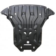 Защита картера двигателя и кпп Audi (Ауди) Q5,V-2,0; 3,0TDI (2008-) (Композит 8 мм)