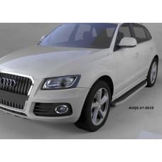 Пороги алюминиевые (Alyans) Audi (Ауди) Q5 (2009-)