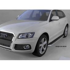 Пороги алюминиевые (Ring) Audi (Ауди) Q5 (2009-)
