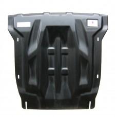 Защита картера двигателя и кпп Audi (Ауди) Q7,V-все, кроме 4.1D; 5.9D (2009-05.2015),из 2х частей (К