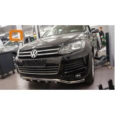 Защита переднего бампера Volkswagen Touareg (2010-) (Shark) d60/42