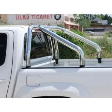 Дуга в кузов пикапа Toyota Tundra из 2-х труб d.90 мм