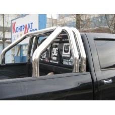 Дуга в кузов пикапа Toyota Tundra из 3-х труб d.90 мм
