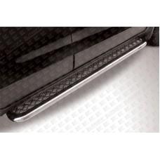 Пороги d57 с листом Chevrolet CAPTIVA (2013)