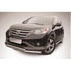 Защита переднего бампера d76+d57 двойная Honda CR-V (2013) (2L)