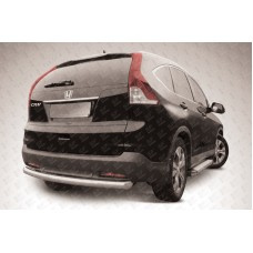 Защита заднего бампера d76 радиусная Honda CR-V (2013) (2L)
