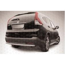Защита заднего бампера d57 радиусная Honda CR-V (2013) (2L)