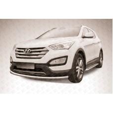 Защита переднего бампера d57 Hyundai Santa Fe (2012)