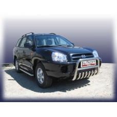 Кенгурятник низкий d57 c защитой картера Hyundai Santa Fe Classic (Таганрог)