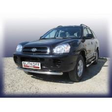 Защита переднего бампера d57 Hyundai Santa Fe Classic (Таганрог)