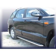 Пороги d42 с листом Hyundai Santa Fe Classic (Таганрог)