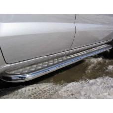 Пороги d42 с листом Hyundai Tucson
