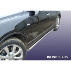 Пороги d57 с гибами Infiniti EX-35