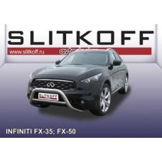 Кенгурятник низкий d76 Infiniti FX-35; FX-50