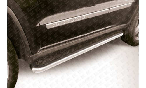 Пороги d57 с листом (чёрный