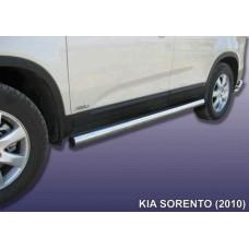 Пороги d76 труба KIA Sorento (2010)