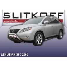 Кенгурятник низкий d57 с защитой картера Lexus RX-350 (2009)