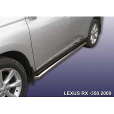 Пороги d76 с гибами Lexus RX-350 (2009)