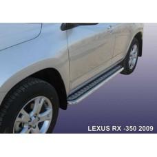 Пороги d57 с листом Lexus RX-350 (2009)