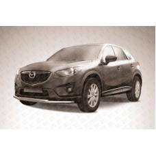 Защита переднего бампера d57+d42 Mazda CX-5