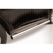 Пороги d76 труба Mitsubishi Outlander (2014)