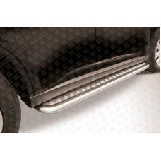 Пороги d42 с листом Mitsubishi Outlander (2013)