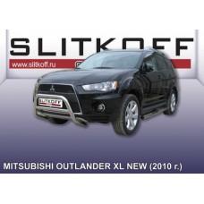 Кенгурятник низкий d57 Mitsubishi Outlander XL (рестайлинг 2010)