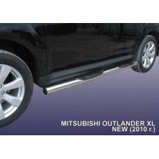Пороги d76 с проступями Mitsubishi Outlander XL (рестайлинг 2010)