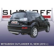 Защита заднего бампера d57 Mitsubishi Outlander XL (рестайлинг 2010)