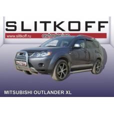 Кенгурятник высокий d57 Mitsubishi Outlander XL (до 2010)