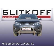 Кенгурятник низкий d76 Mitsubishi Outlander XL (до 2010)