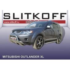 Кенгурятник низкий d57 Mitsubishi Outlander XL (до 2010)