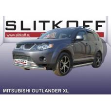 Защита переднего бампера d76 Mitsubishi Outlander XL (до 2010)