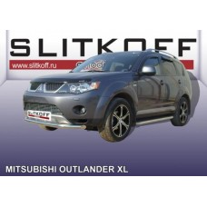 Защита переднего бампера d57 Mitsubishi Outlander XL (до 2010)