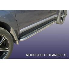 Пороги d42 с листом Mitsubishi Outlander XL (до 2010)