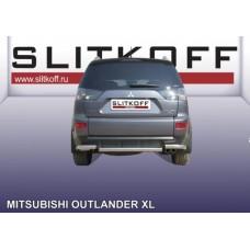 Защита заднего бампера d57 Mitsubishi Outlander XL (до 2010)