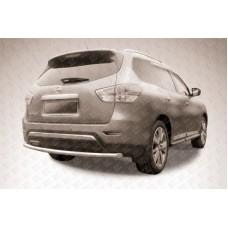 Защита заднего бампера d57 Nissan Pathfinder (2014)