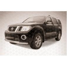 Защита переднего бампера d76+d57 двойная Nissan Pathfinder (2011)