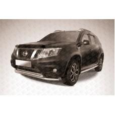 Защита переднего d57+d42 бампера двойная Nissan Terrano (2014)