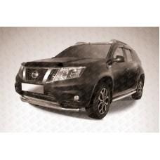 Защита переднего d57 бампера Nissan Terrano (2014)