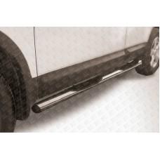 Пороги d76 с проступями Nissan QASHQAI +2 (2007)