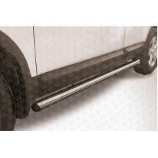 Пороги d76 труба Nissan QASHQAI +2 (2007)
