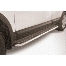 Пороги d57 с листом Nissan QASHQAI +2 (2007)