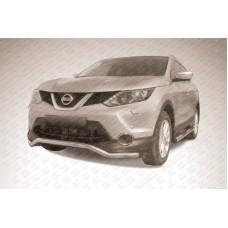Защита переднего бампера d57 волна Nissan QASHQAI (2014)