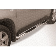 Пороги d76 с проступями со скосами Nissan X-TRAIL (2007)